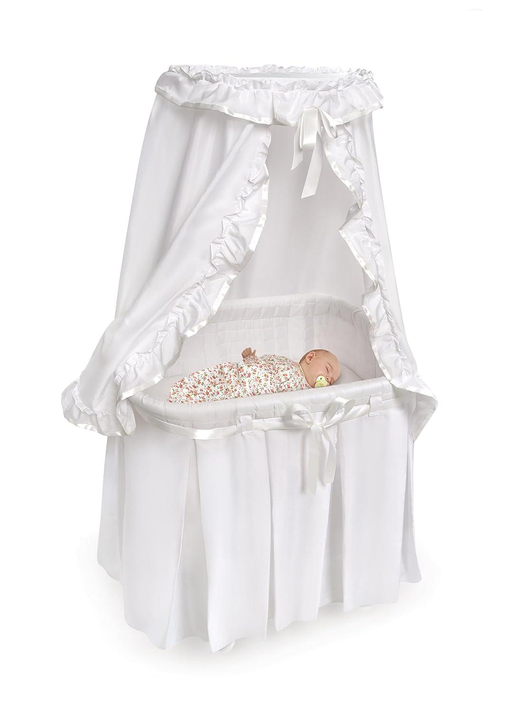 amazon com badger basket majesty baby bassinet with canopy