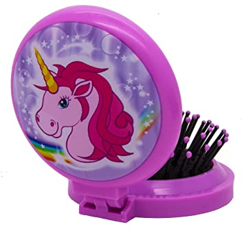 Gift for kids compact pocket mirror and brush unicorn horse gift for kids compact pocket mirror and brush unicorn horse travel gift for negle Images