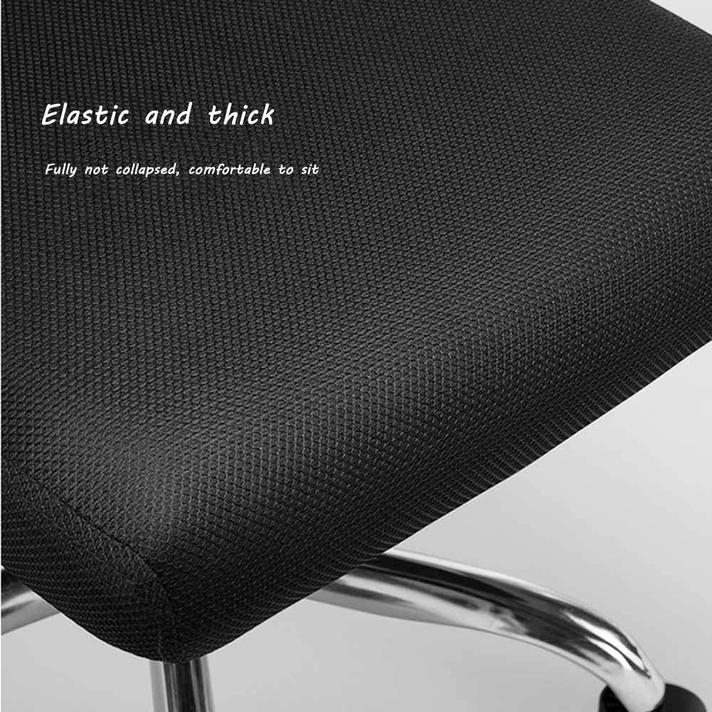 JIEER-C stol dator skrivbordsstol, fast armstöd hög rygg vilande verkställande ergonomisk kontorsskrivbordsstol med gungfunktion, grön Svart
