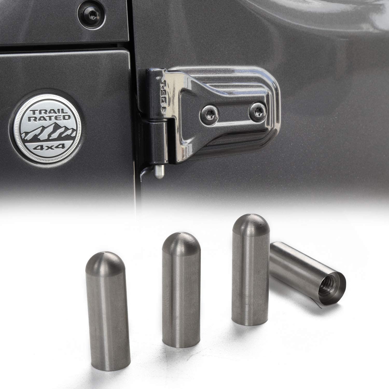 Amazon Com Jeep Door Hinge Pin Bolts Guides Liners For 2007 2019 Jeep Wrangler Jk Jl 4 Pcs Automotive