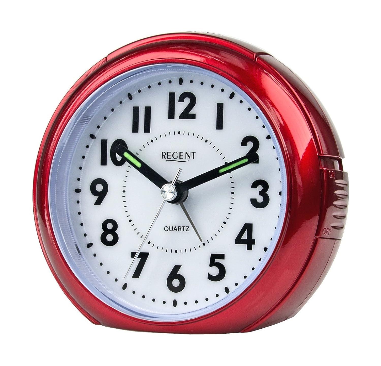 Wecker ohne zeiger  Regent 41-240-1 Wecker lautlos Analog Licht Alarm geräuscharm ...