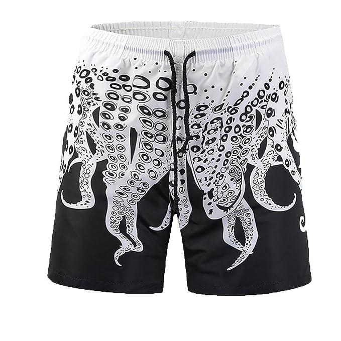 Amazon.com: iuhan Bañador para hombre, ocio moda pantalones ...