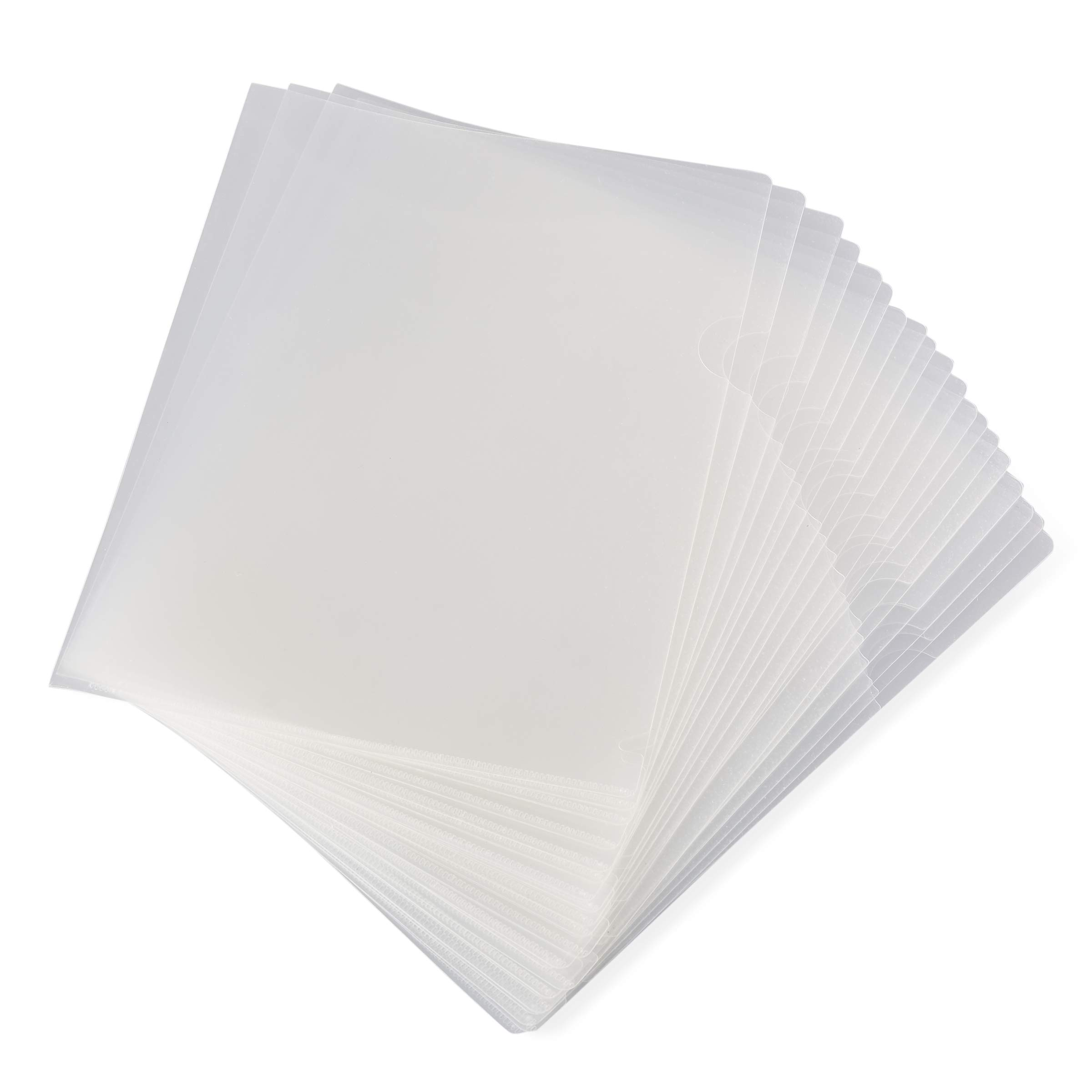 Paper Junkie 24-Pack Clear Project Protector Folders for Letter Size Documents, 11.4 x 8.9 Inches by Paper Junkie