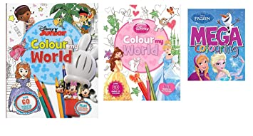 Disney Junior Characters Colour My World Book Mickey Minnie Doc McStuffins