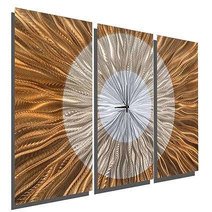 Statements2000 Metal Wall Clock Modern Art Copper Painting Decor Jon Allen