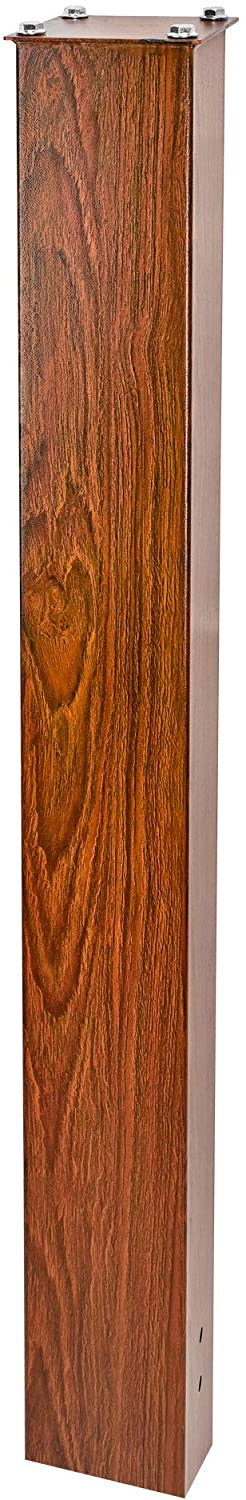 Mail Boss 7124 In- Ground Steel Mounting Mailbox Post, Wood Grain