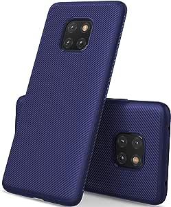 Huawei Mate 20 pro case, Scratch Resistant Premium Flexible Soft Anti Slip TPU Cover Blue