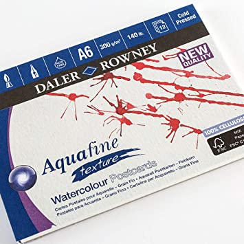 Daler Rowney aquarelle artists watercolour NOT (cold pressed) pad A6  postcard size