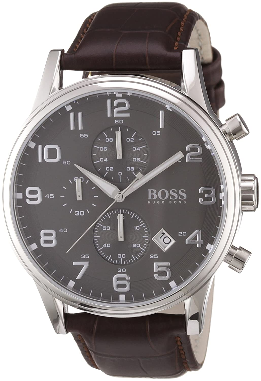 hugo boss mens quartz watch chronograph display and leather strap hugo boss mens quartz watch chronograph display and leather strap 1512570 hugo boss amazon co uk watches