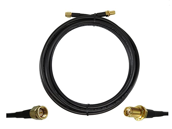 Amazon.com: 10 ft Low-Loss Coax Extension Cable (50 Ohm) - SMA Male ...
