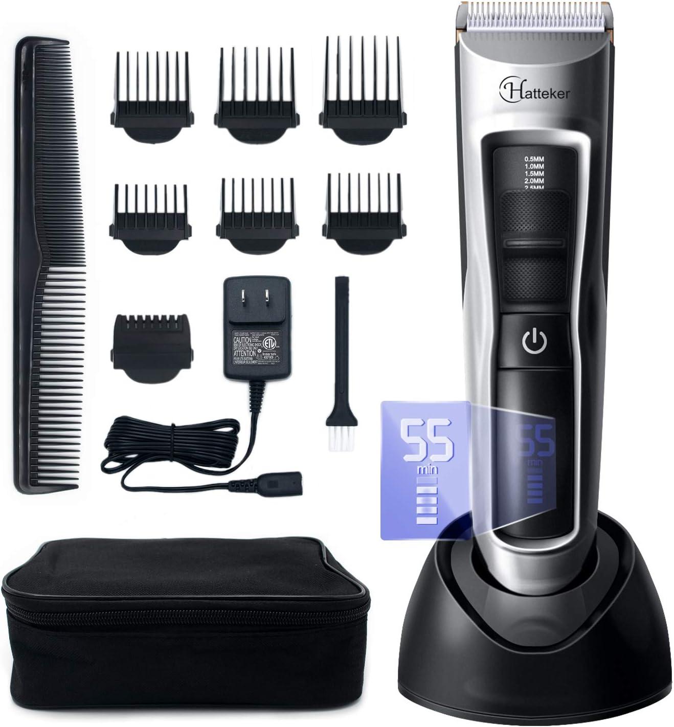 hatteker barbero cabello para hombre afeitadora eléctrica ...