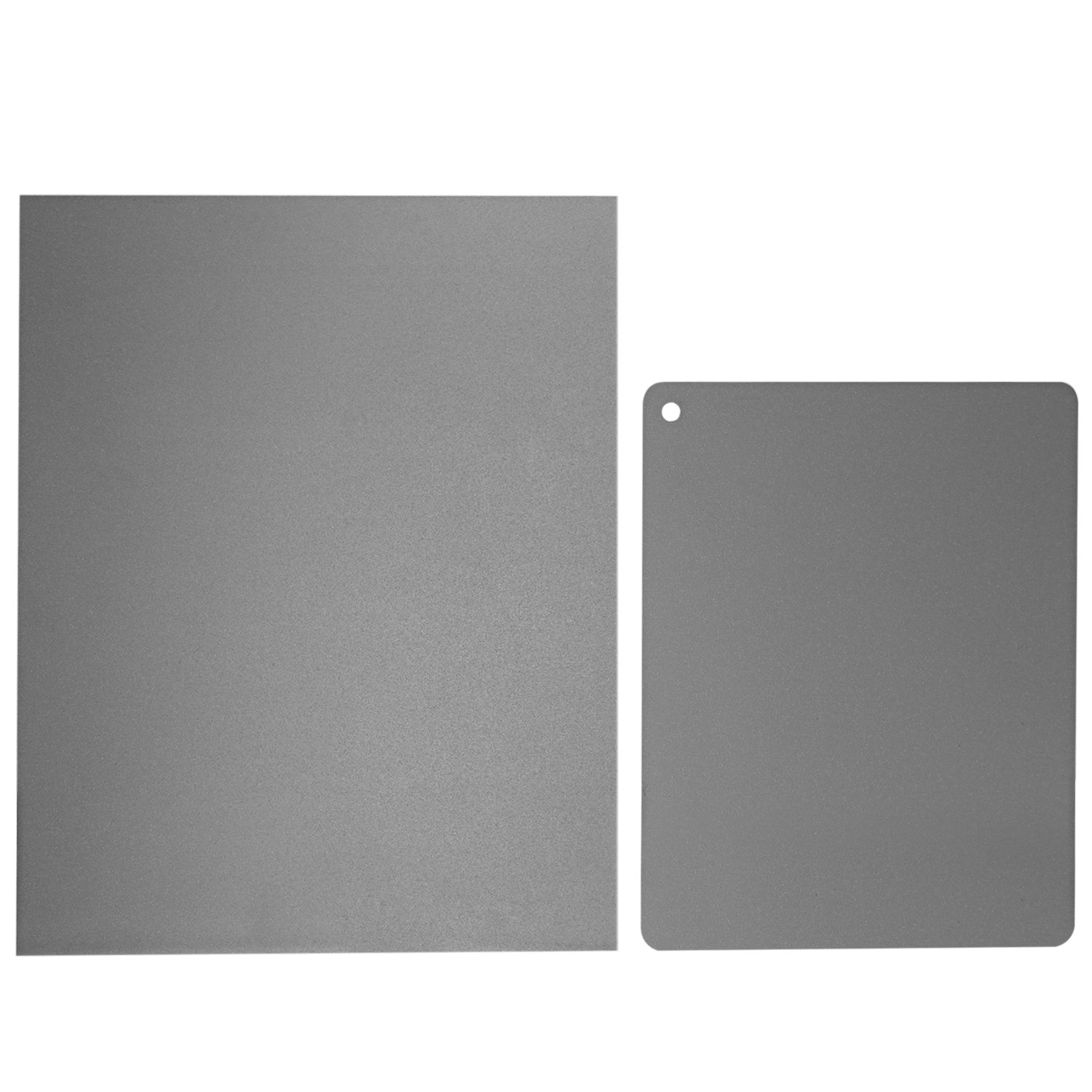 Neewer 2 Pieces Grey Card Set, Custom White Balance 18 Percent Gray Reference Reflector and Exposure Control Photographic Cardboard Kit (8x10 inches, 4x5 inches) for DSLR, Video, Film and Photography by Neewer