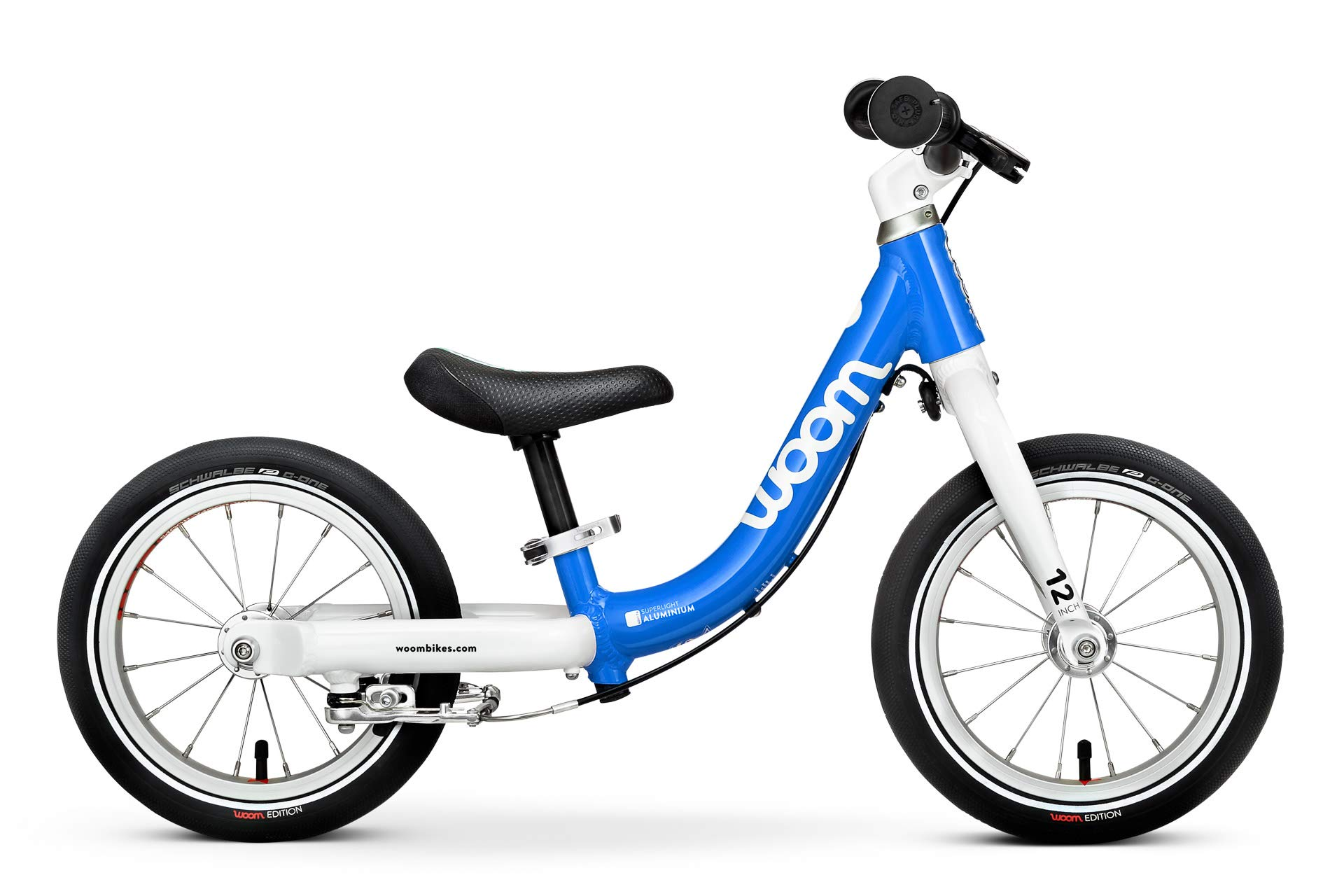 woom 1 Balance Bike 12'', Ages 18 Months to 3.5 Years, Blue