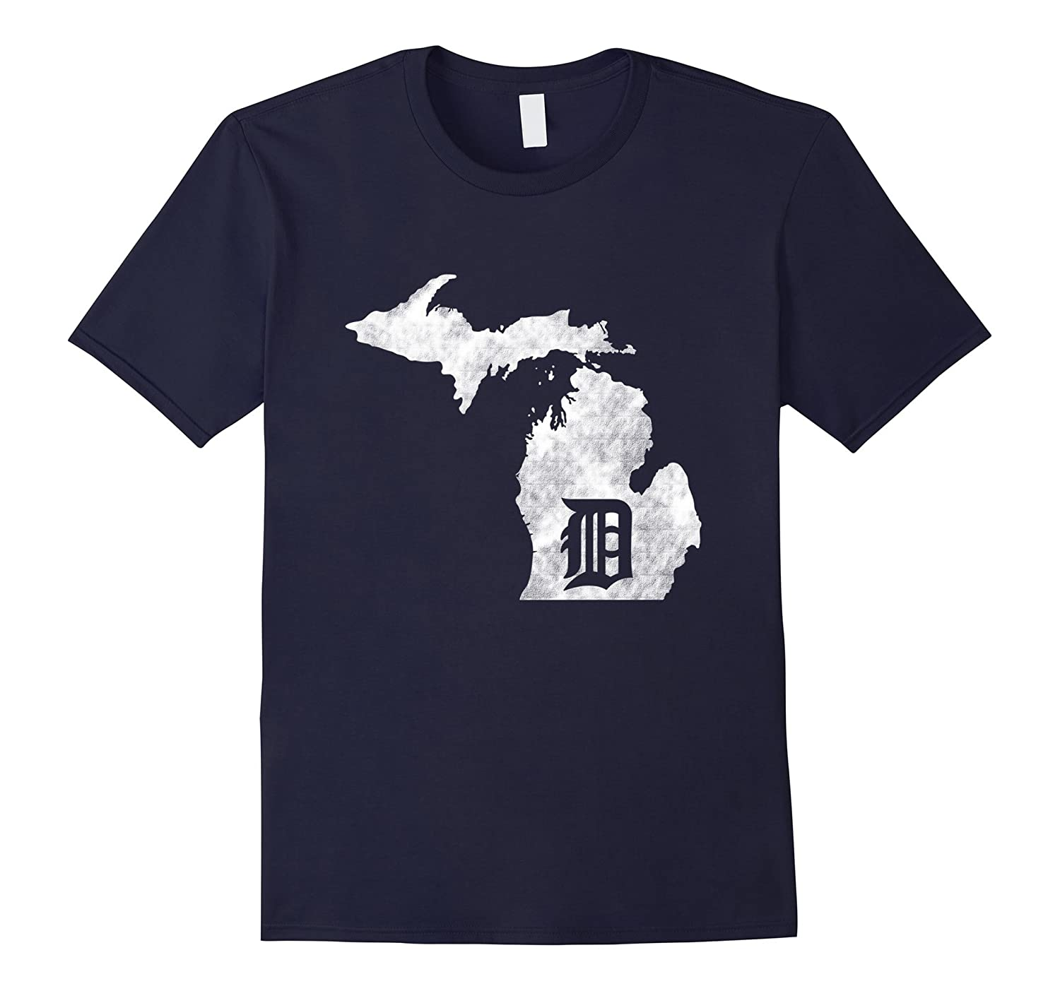 Detroit Michigan - Motor City Midwest D Mitten T-Shirt-PL