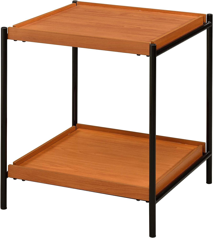 Acme Furniture Oaken End Table, Honey Oak & Black