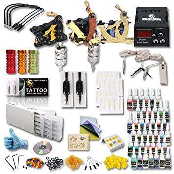 Amazoncom Professional 3 Tattoo Gun Tattoo Kit With Tattoo Power