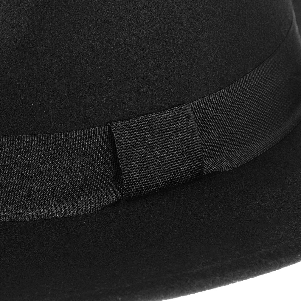 La Vogue Men Retro Hat Fedora Hat Flat Jazz Hats Gentleman Hat Cap Black   Amazon.co.uk  Clothing 0a2f109f8c68