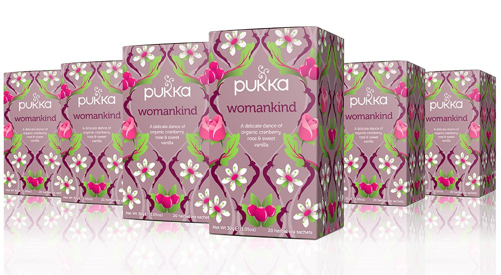 Pukka Womankind, Organic Herbal Tea with Shatavari, Cranberry & Rose Flower (6 Pack, 120 Tea Bags) by Pukka Herbs