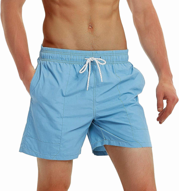 Felottis Mens Swim Trunks,Quick Dry Men Beach Short,Stretch Swimming Trunks Mesh Lining