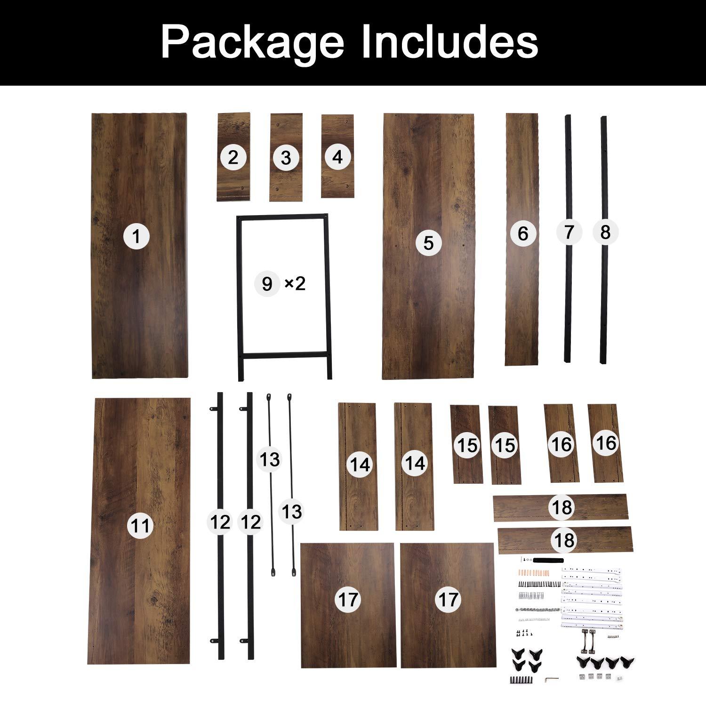 entr/ée chambre cuisine Console 2 tiroirs avec poign/ées et /étag/ère de rangement Table dappoint pour la maison et le bureau Table dappoint en bois avec cadre en m/étal noir pour couloir salon