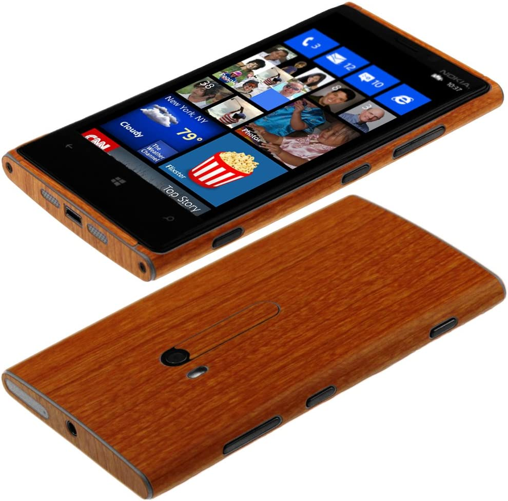 Skinomi Light Wood Full Body Skin Compatible with Nokia Lumia 920 Full Coverage TechSkin with Anti-Bubble Clear Film Screen Protector