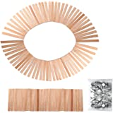 Caydo 100 Pieces 5-inch Wood Candle Wicks for Candle Making