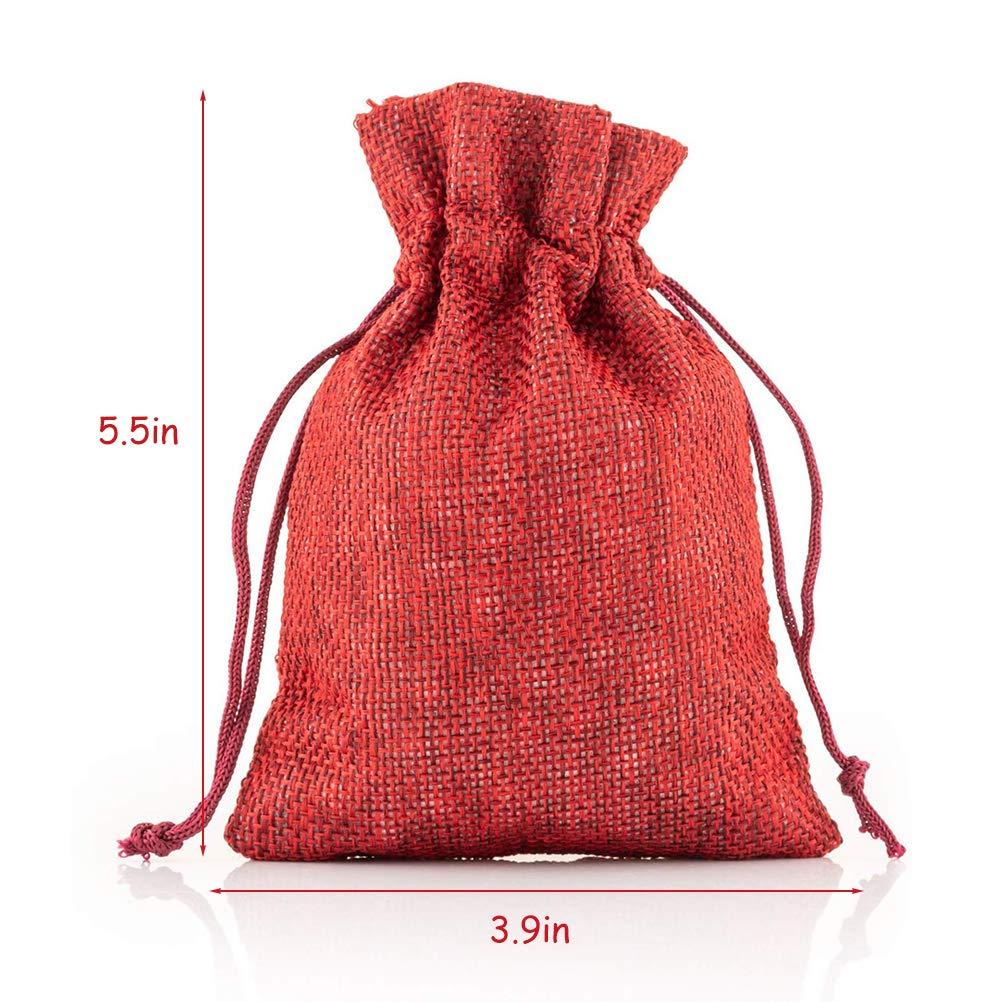 Mekta Lot de 24 Pochettes en Tissu pour Calendrier de lAvent avec Pinces en Bois