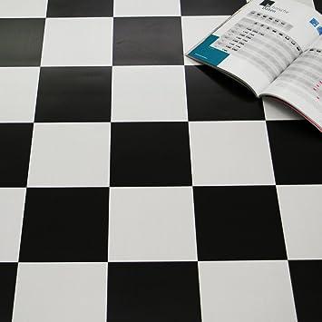 PVC Bodenbelag Schachbrett Schwarz Weiß Breite 4 m (9,95 € p ...