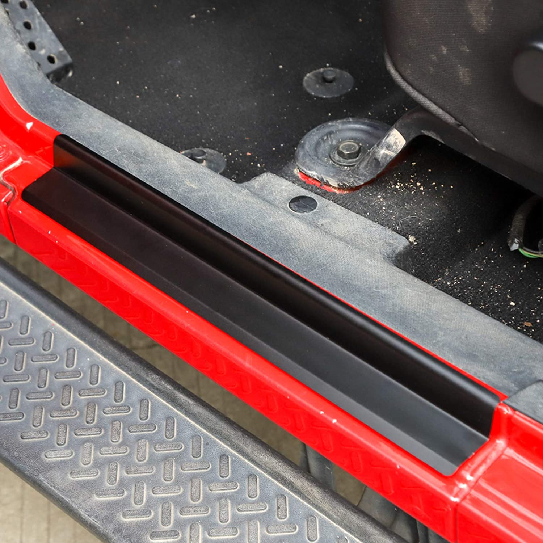 Topteng Protection de seuil de porte pour Jee-p Wrangler JK 07-17 4 portes