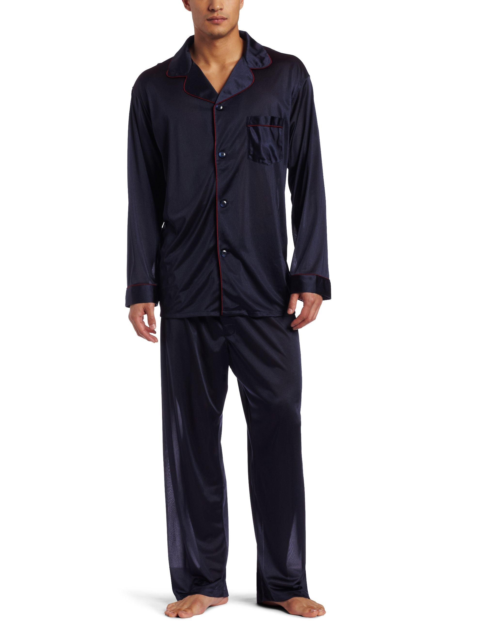 Intimo Men's Travel PJ Set, Navy, Large