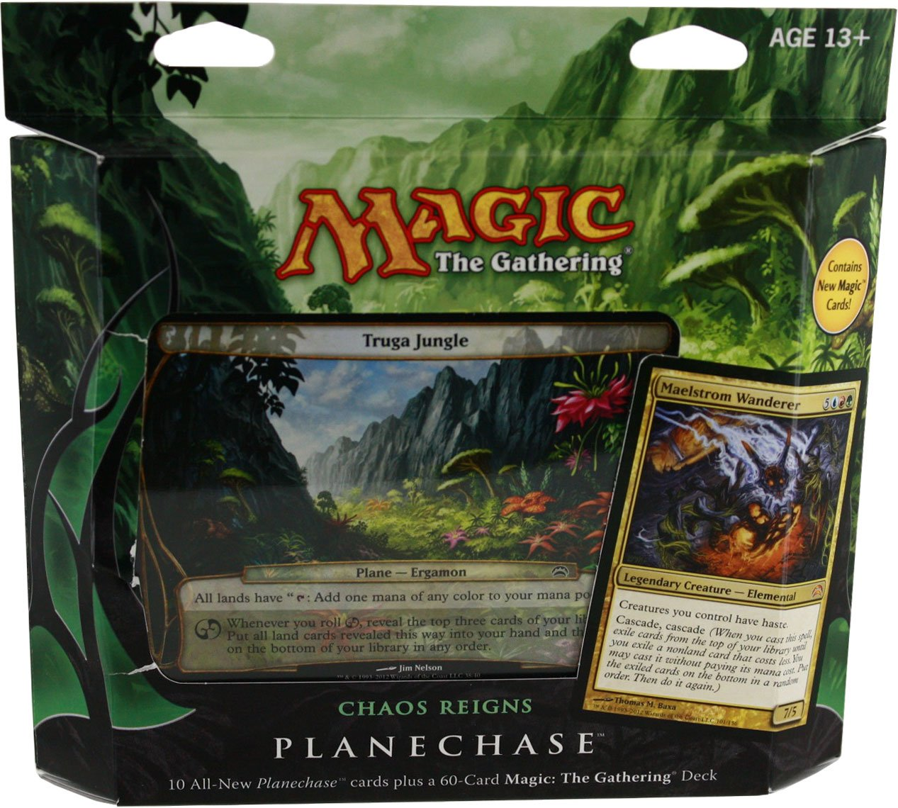 Magic the Gathering- MTG  Planechase (2012 Edition) Chaos Reigns - Game Pack by Wizards of the Coast TOY (English Manual) B0087456YG Packs & Sets Am praktischsten | Attraktives Aussehen