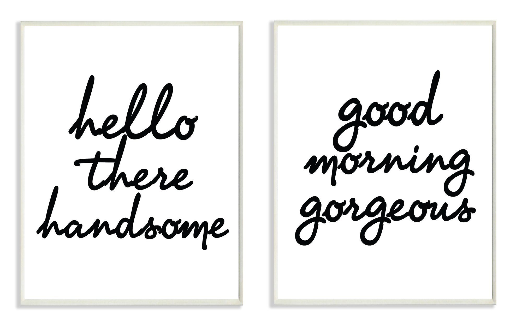 The Stupell Home Decor Collection lulusimonSTUDIO Hello There Good Morning Glam 2 Pc Wall Plaque Set