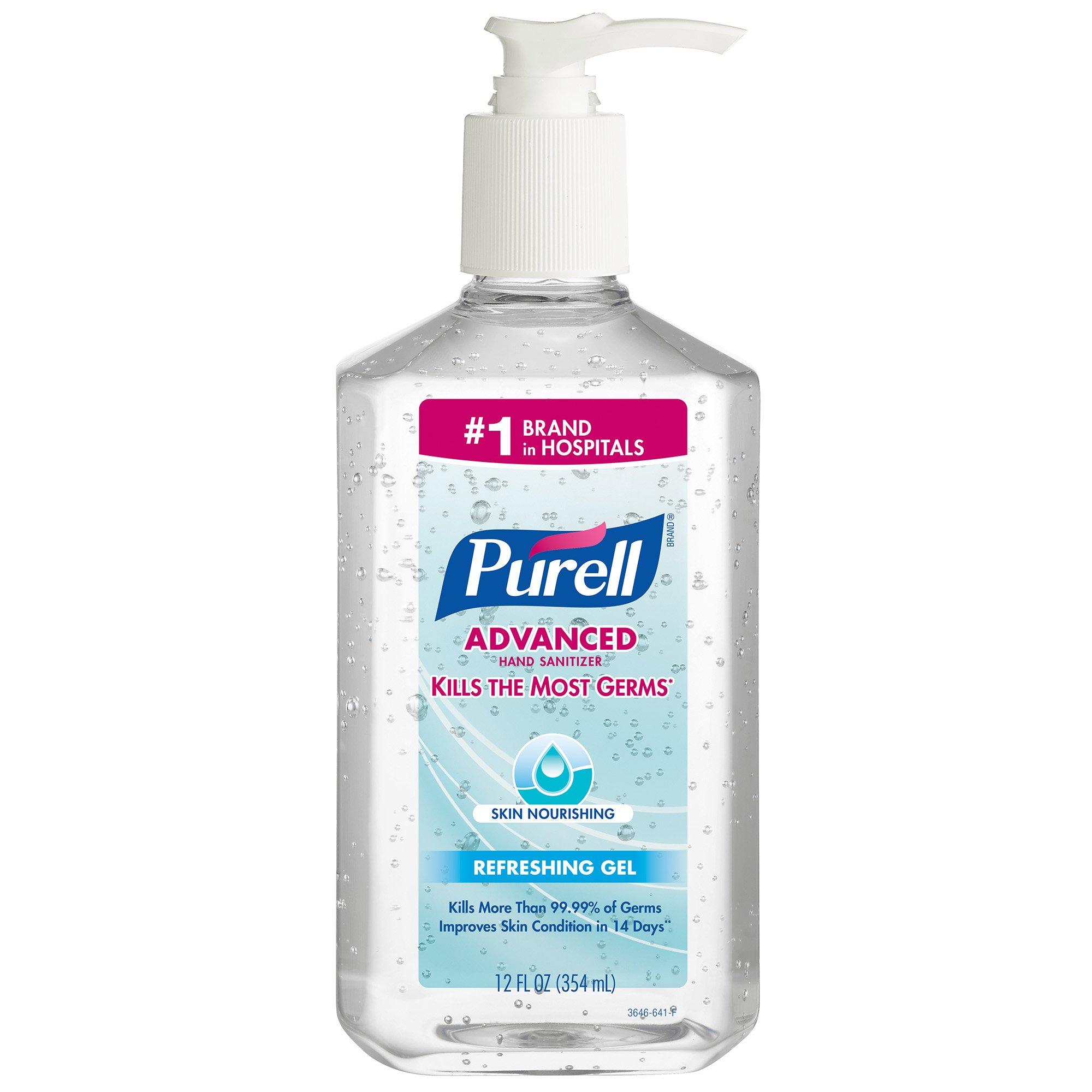 PURELL 3646-12 Advanced Skin Nourishing Instant Hand Sanitizer, 12 fl. oz. Pump Bottle (Case of 12)