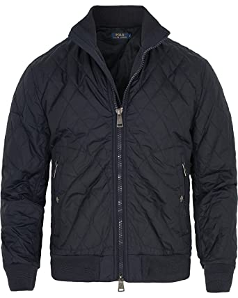 cc79c6da1 Polo Ralph Lauren Men's Radar Quilted Bomber Jacket Mill Navy D2AM (Medium)