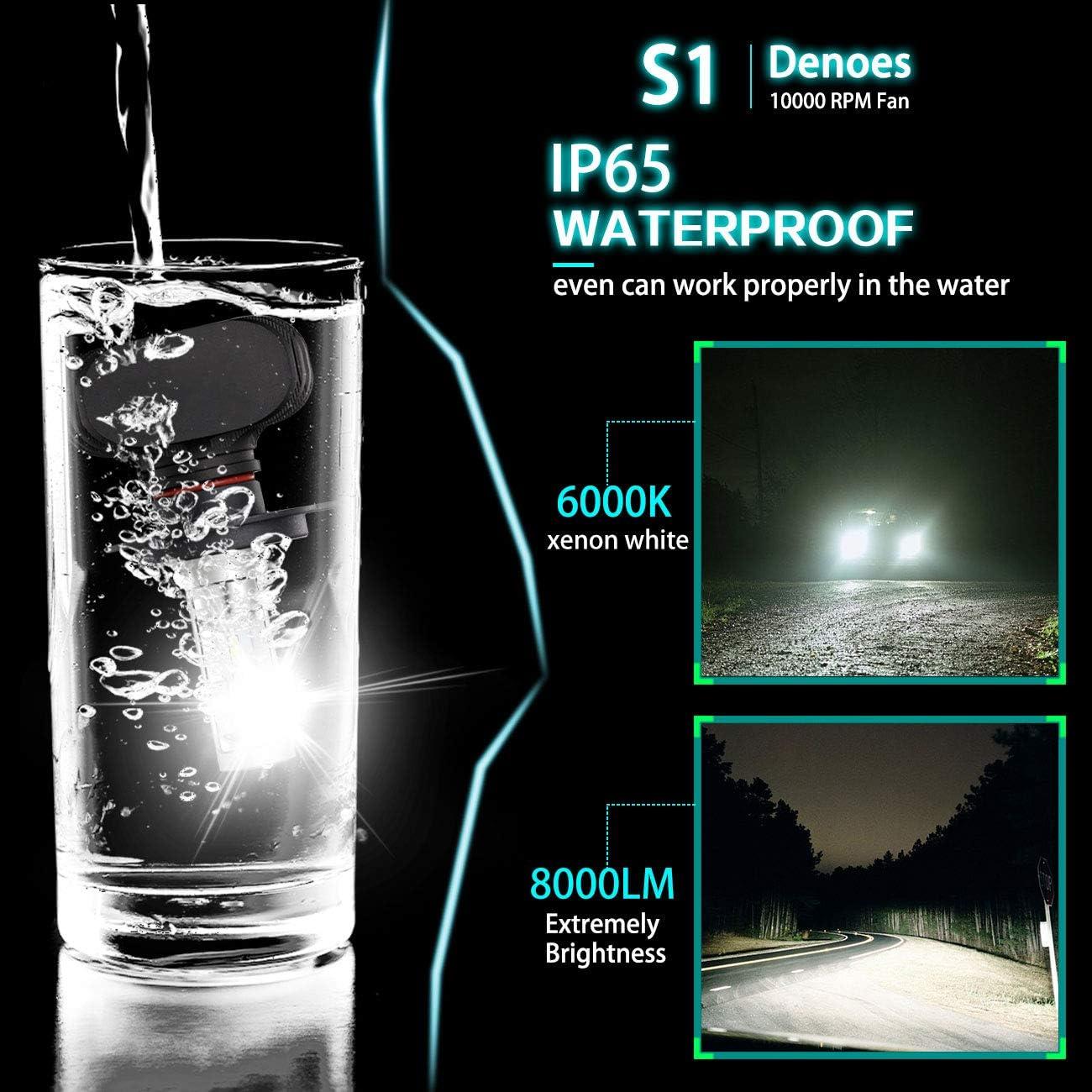 2-Pack H4 LED Headlight bulbs CSP Conversion kits 10000LM Xenon White Hi//Low Beam Headlamp Bulbs