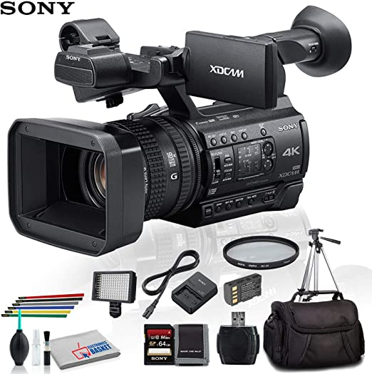 LED Light Case and More UV Filter PXW-Z150 Sony PXW-Z150 4K XDCAM Camcorder with 16GB Memory Card Extra Battery and Charger - Starter Bundle