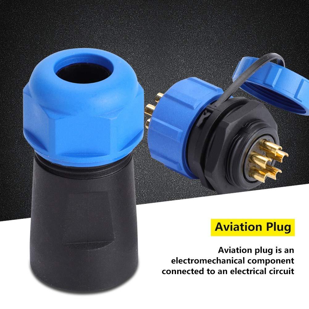 4 unidades de conector de estela IP68 negro, PA66 acoplador de manga externa /Ø 5 mm-12 mm Conector de cable para exteriores de caja de conexiones impermeable