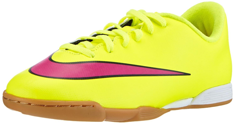 Nike Jr. Mercurial Vortex II IC, Unisex-Kinder Fußballschuhe, Gelb (Volt Hyper Pink-schwarz 760), 35 EU