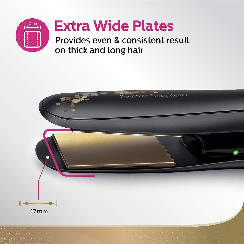 Philips straightener with keratin