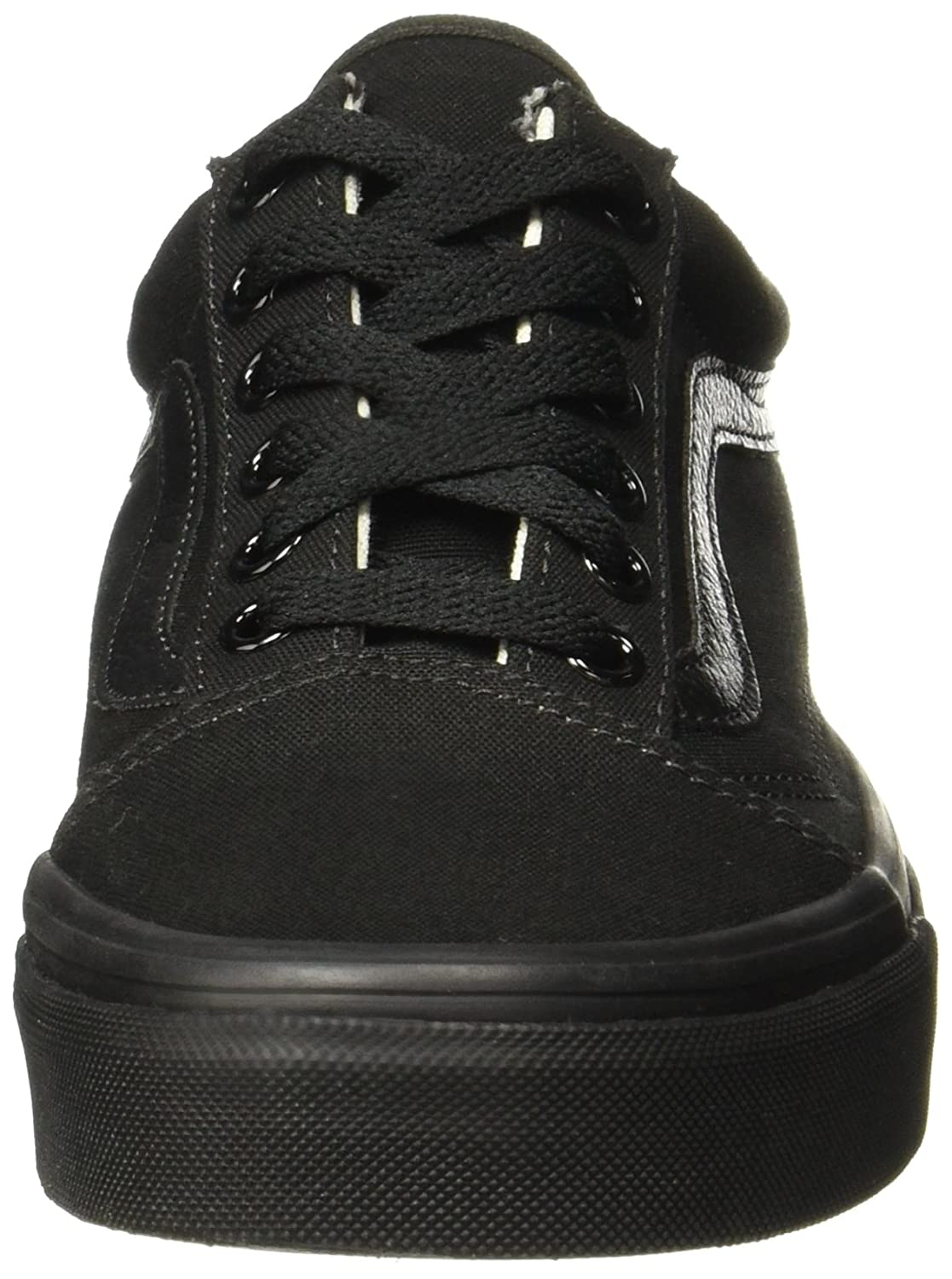 Vans Unisex Old Skool Classic Skate Shoes B01M128MA5 7.5 M US Women / 6 M US Men|Black/Black