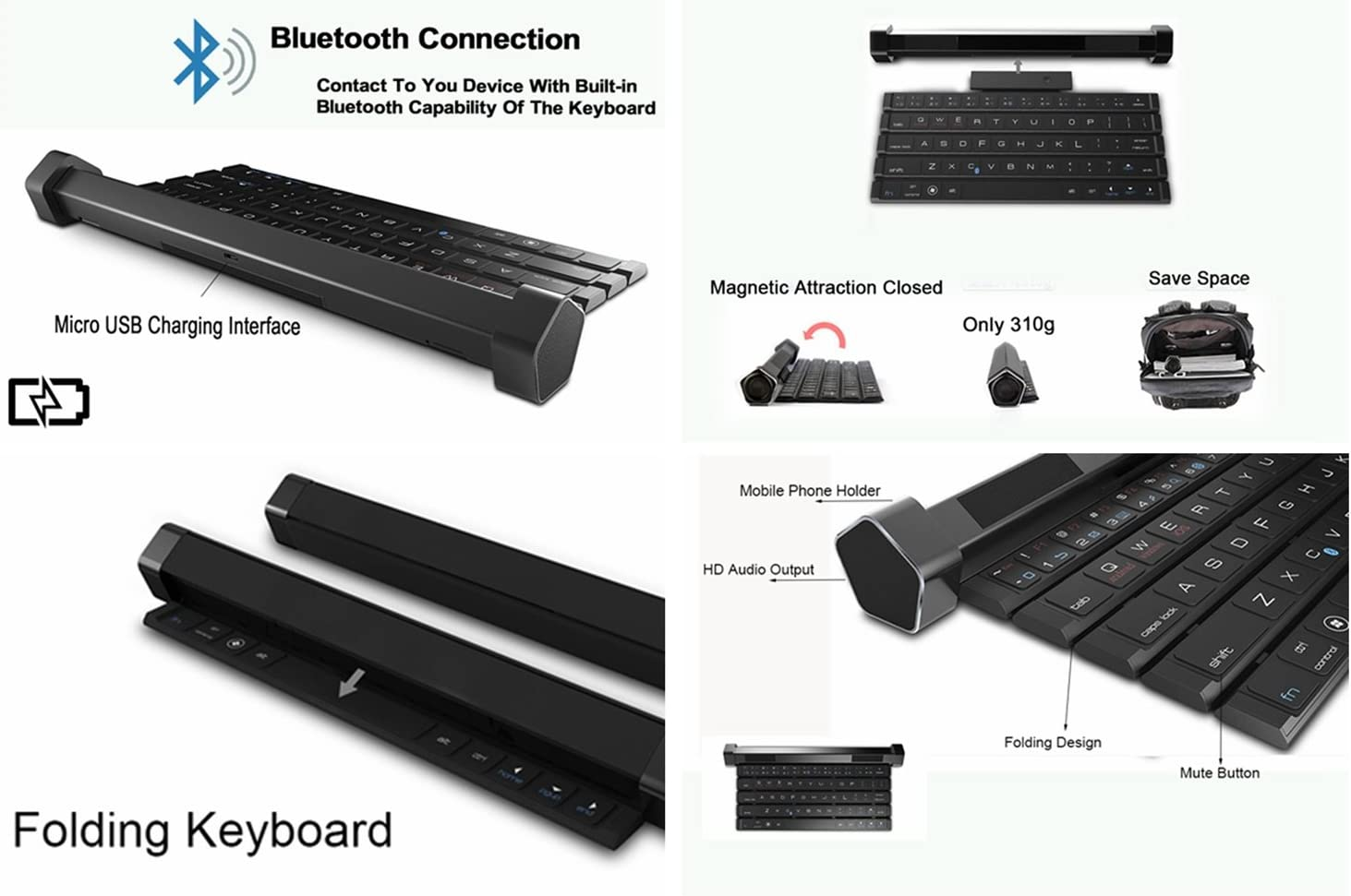 HOIHO Portable speaker//bluetooth keyboard speaker portable bluetooth wireless smart speaker keyboard bluetooth for mobile phones