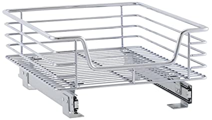 Home & Garden Household Essentials C2515-1 Glidez 1-tier Metal Sliding Organizer With Non-slip