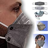 CARBONANO Activated Carbon disposable face mask, 4 filtration layers yet easy to breathe, Package of 20 Fish-Shaped masks