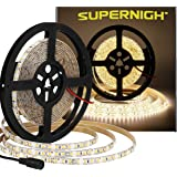 SUPERNIGHT Bright 600pcs LED Strip Waterproof Warm White 4000K, Super Bright 600pcs LEDs, 16.4ft LED Flexible Rope Lights, Lighting for Garden/Home/Kitchen/Car/Bar/Christmas/Party/Indoor
