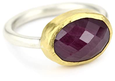 Amazoncom Nava Zahavi Ruby Sterling Silver and High Karat Gold