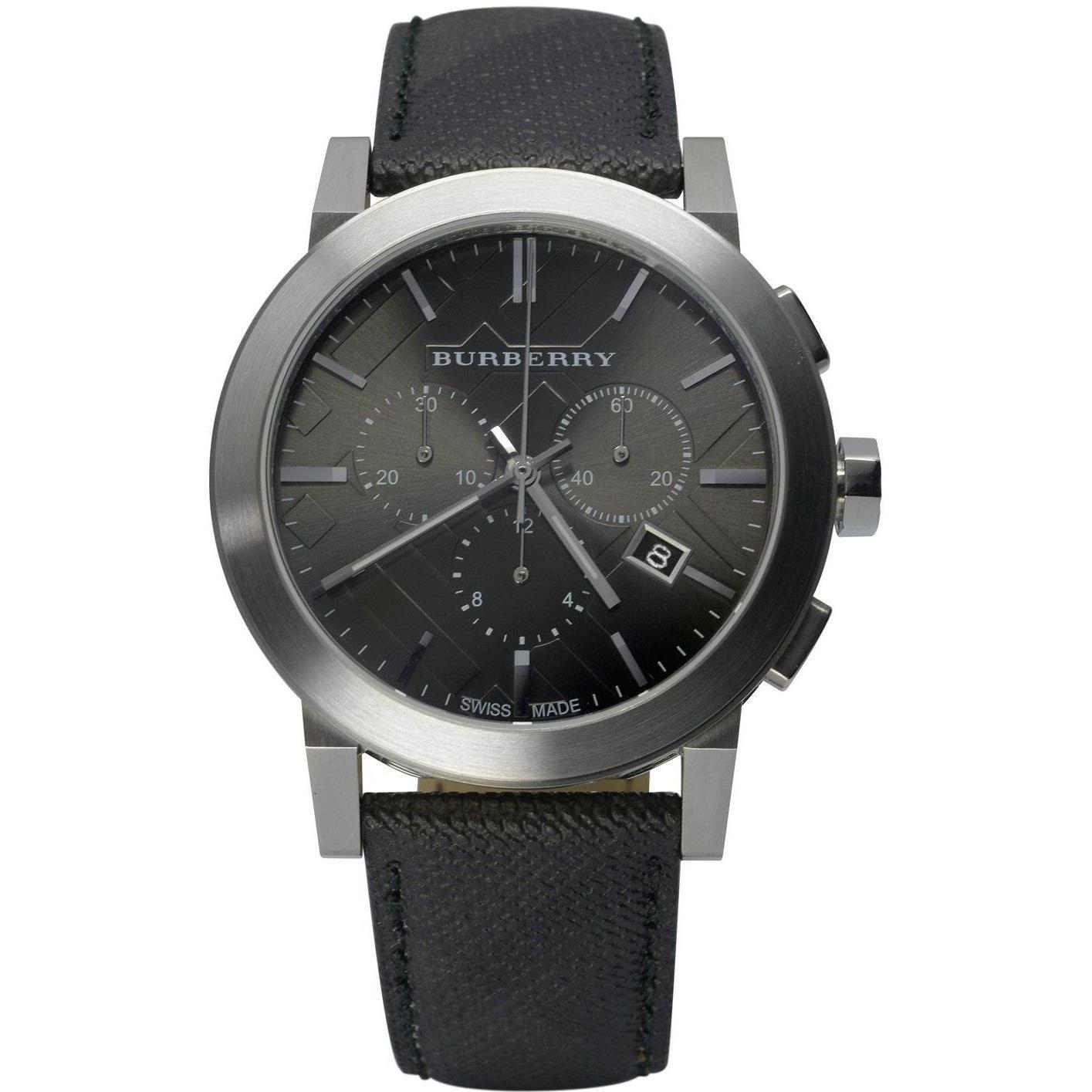 abc209674fc3 Amazon.com: Burberry Black Dial Black Fabric Strap Mens Watch BU9362:  Watches