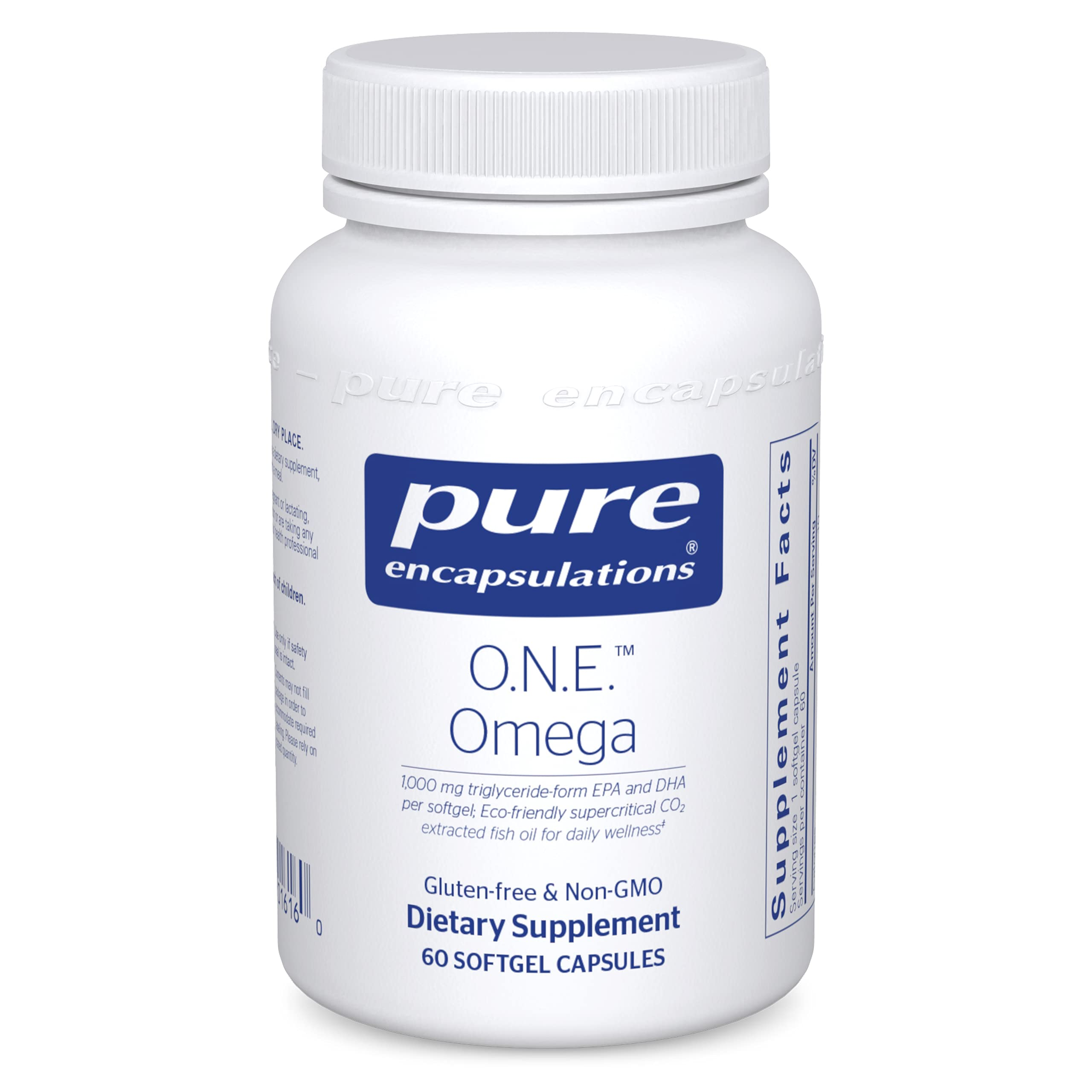 Pure Encapsulations O.N.E. Omega   Fish Oil Supplement for Heart Health, Joints, Skin, Eyes, and Cognition*   60 Softgel Capsules