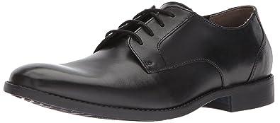 Bostonian Men's Garian Plain Oxford, Black Leather, 7 Medium US