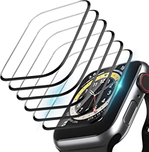 6 Pack Screen Protector For Apple Watch Series 6/SE/5/4 44mm, 3D Curved Full Coverage HD Ultra Bubble Free Waterproof Anti-Shatter Scratch-resistant Screen Protector Film For iWatch SE/6/5/4 44mm