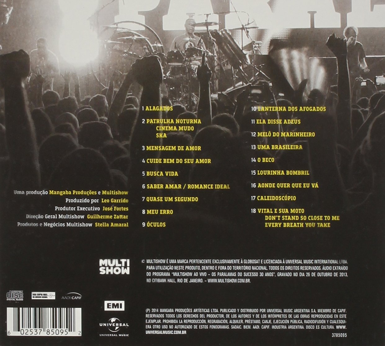 cd paralamas do sucesso multishow ao vivo